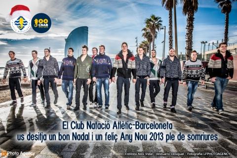 Acció promocional de l'Atlètic-Barceloneta coincidint amb el Nadal