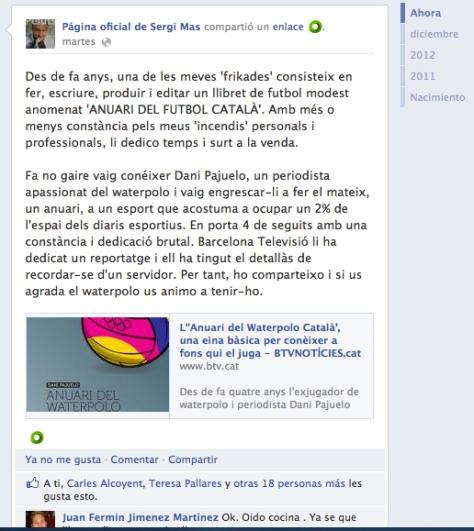 Facebook Sergi Mas