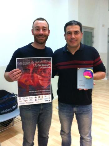 Amb Juan Carlos Sanchón a la presentació de l'Anuari al CN Sant Feliu