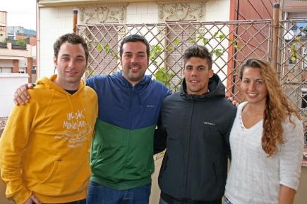 Xavi Pajuelo, Marc Comas, Nil Martín i Helena Lloret, tècnics al I campus WP Camp