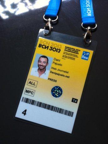 Acreditació amb accés a totes les instal·lacions del Mundial Barcelona 2013
