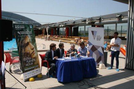 Roda de premsa explicant la col·laboració CN Molins i Barcelona 2013