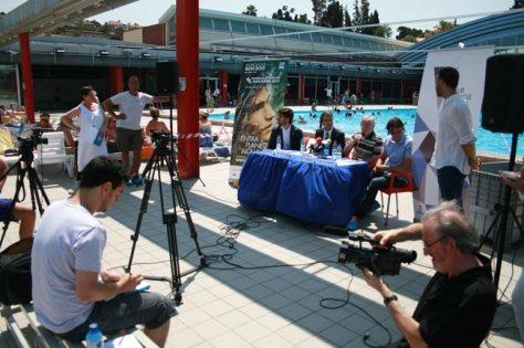 Roda de premsa en motiu dels entrenaments del Mundial Barcelona 2013 al CN Molins